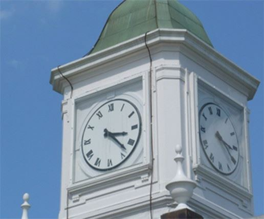 Large White Clock Tower