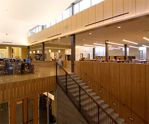 Needham Library - interior shot