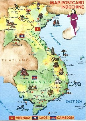 VIETNAM indochina map