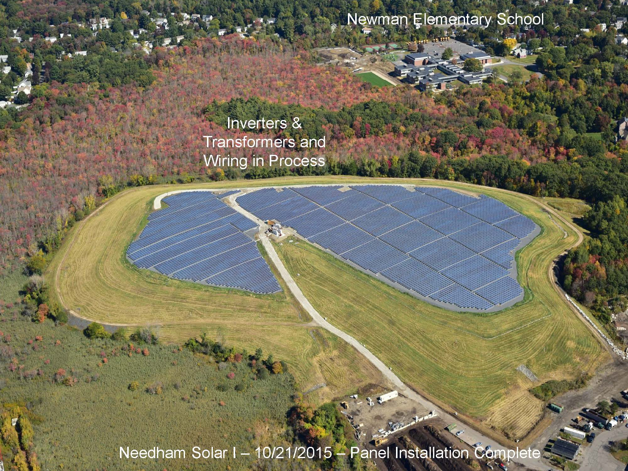Page 11 of the Green Needham Presentation of the Solar 1 Landfill Project