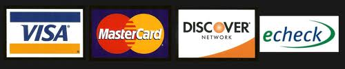 VISA, Master Card, Discover, eCheck