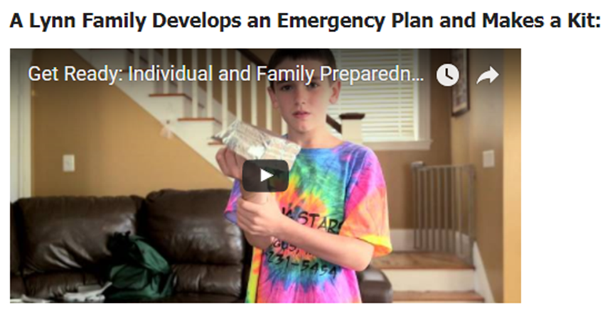 Family Plan and Emergency Kit